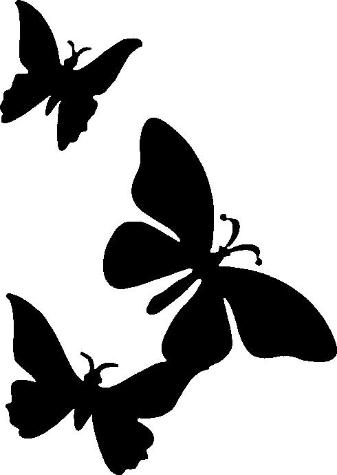 triple butterfly stencil