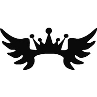CROWN WINGS STENCIL
