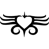 TRIBAL HEART STENCIL