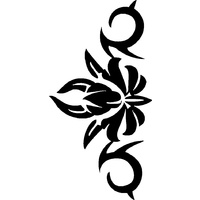 FLOWER TRIBAL STENCIL