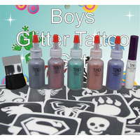 GLITTER TATTOO PARTY KIT FOR BOYS