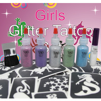 GLITTER TATTOO PARTY KIT FOR GIRLS