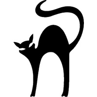 STRETCHED CAT STENCIL