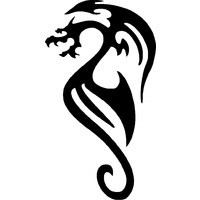 TRIBAL DRAGON STENCIL
