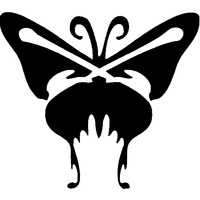 BUTTERFLY ONE STENCIL