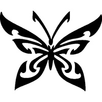 TRIBAL BUTTERFLY STENCIL