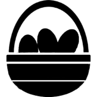 EASTER BASKET STENCIL