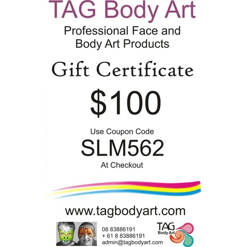 TAG Gift certificate  $100