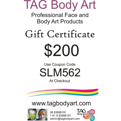 TAG Gift certificate  $200